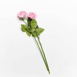 Forever Flowering Real Touch Pink White Rose Flower Stem