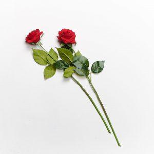 Forever Flowering Real Touch Red Rose Flower Stem