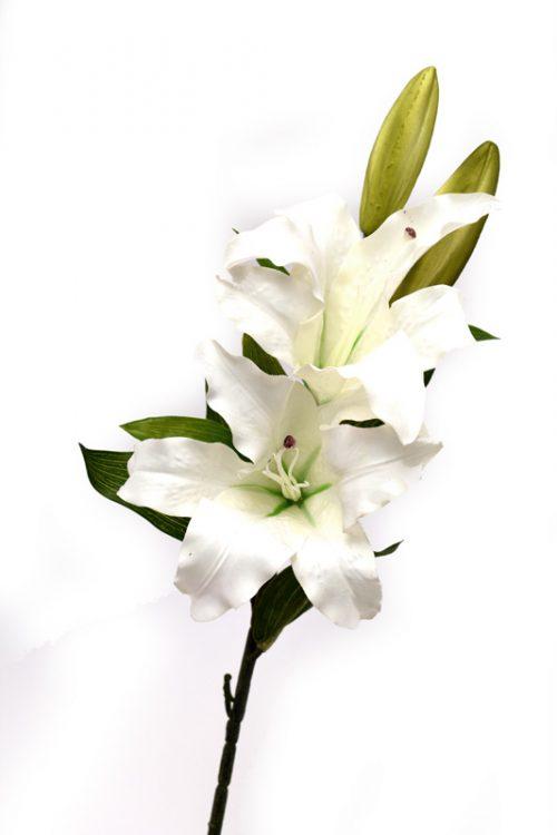 Forever Flowering White Real Touch 2 Flower Casablanca Stem