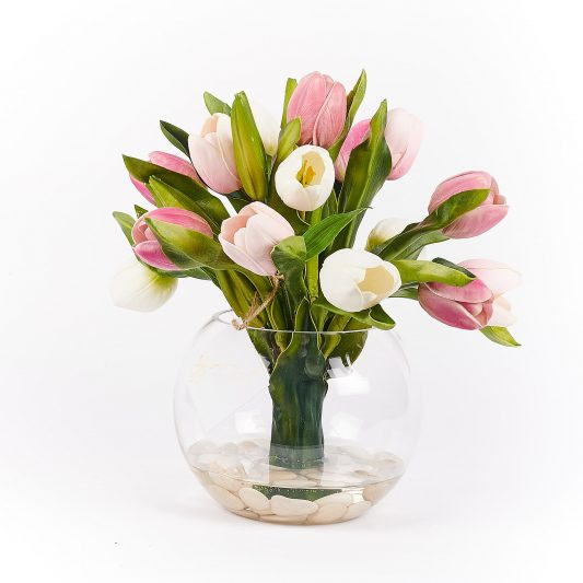 Jodie Real Touch Forever Flowering Flower Arrangement Pink 2