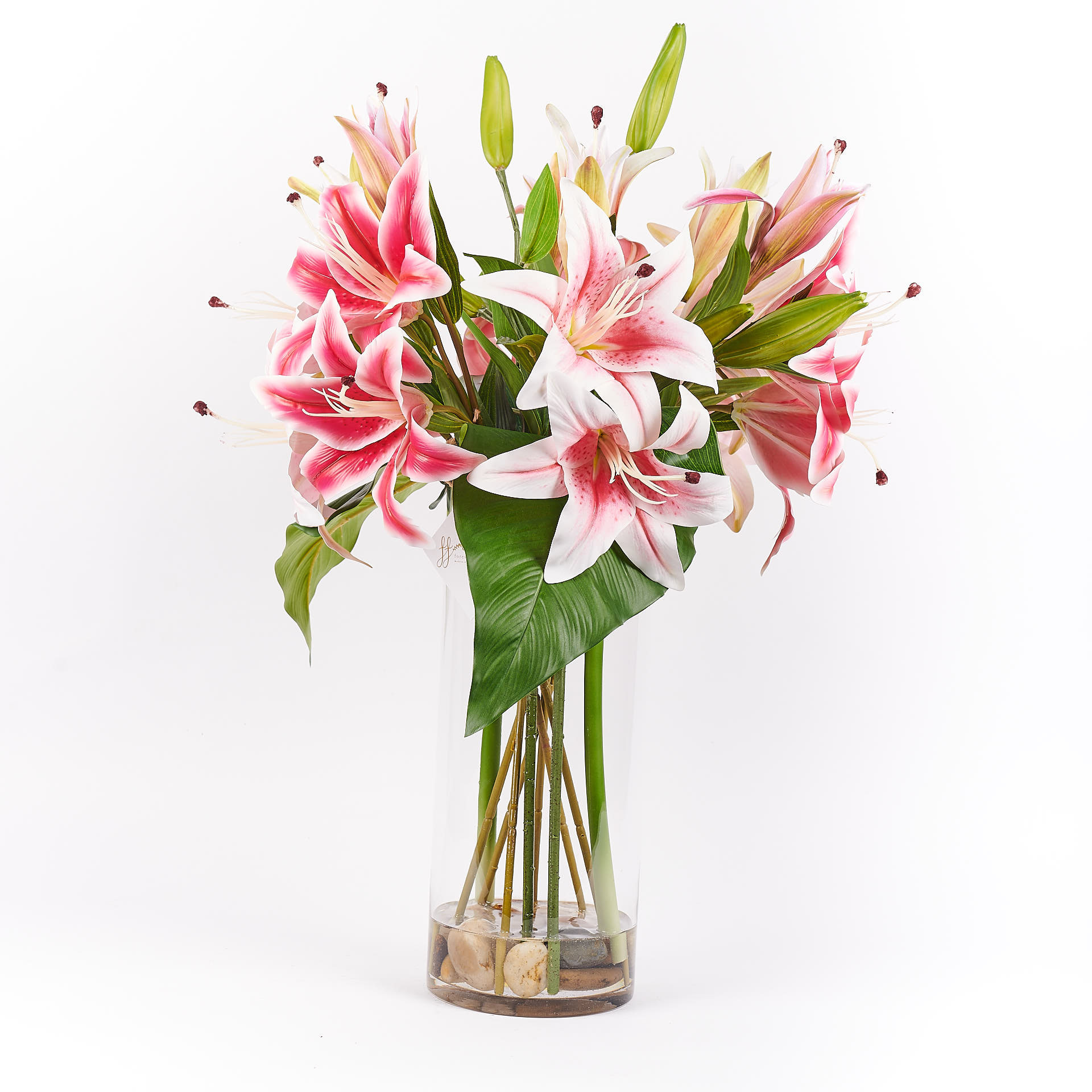 Stella Real Touch Forever Flowering Flower Arrangement Dark Pink and Light Pink 2