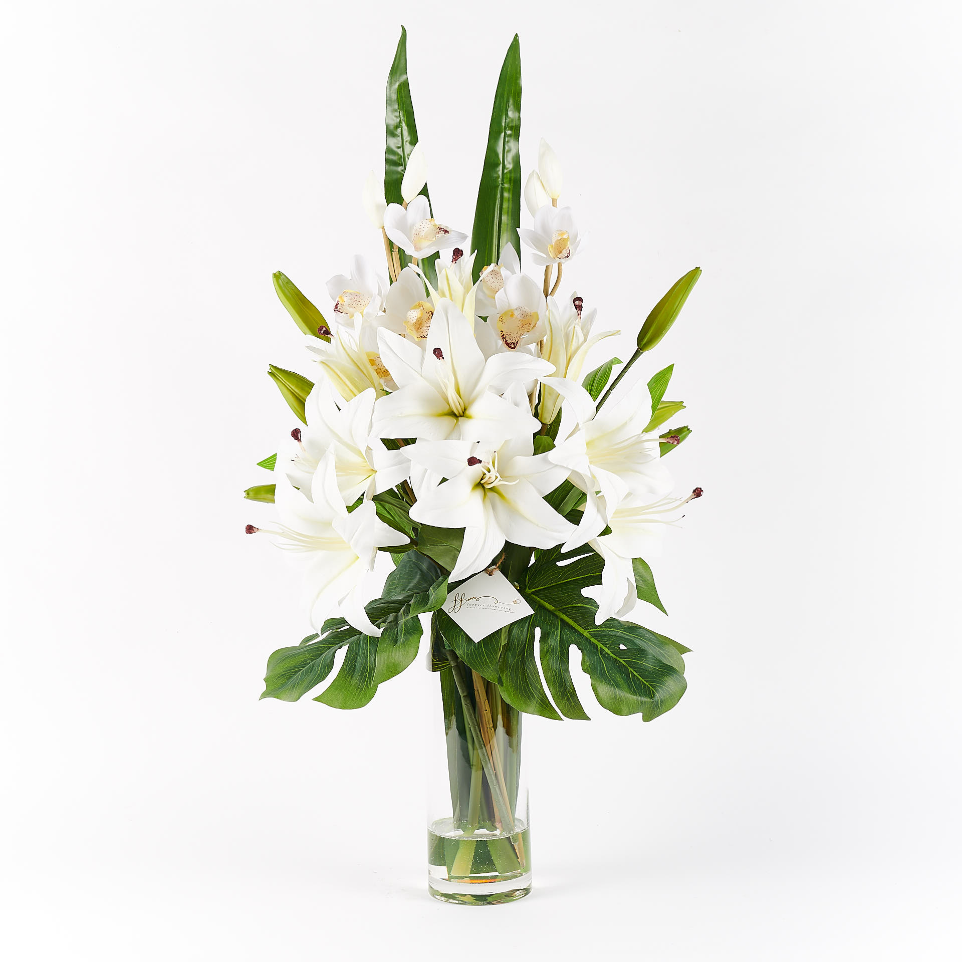 Taylor Real Touch Forever Flowering Flower Arrangement White 1