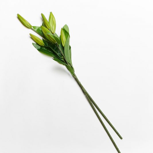 Forever Flowering Real Touch Casablanca Lily Bud Flower Stem