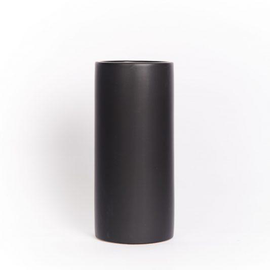 Hannah Forever Flowering Ceramic Vase Black