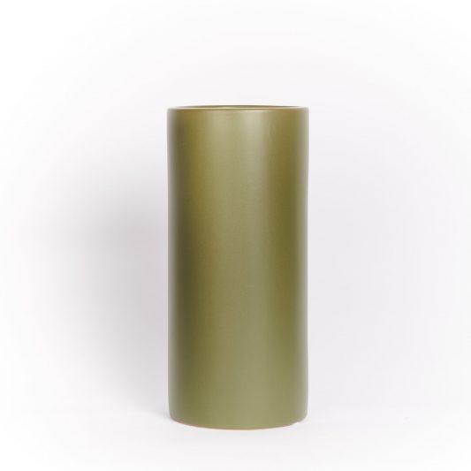 Hannah Forever Flowering Ceramic Vase Olive