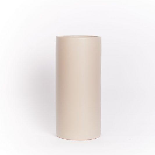 Hannah Forever Flowering Ceramic Vase Taupe
